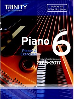Trinity College London: Piano Exam Pieces & Exercises 2015-2017 - Grade 6 (Book/CD) Books and CDs | Piano