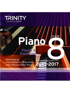 Trinity College London: Piano Exam Pieces 2015-17 (Grade 8) (CD) CDs | Piano
