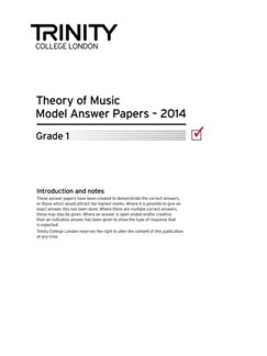 Trinity College London: Theory Model Answers 2014 - Grade 1 Books | All Instruments