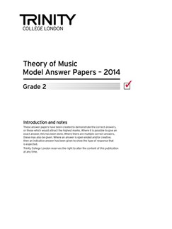 Trinity College London: Theory Model Answers 2014 - Grade 2 Books | All Instruments
