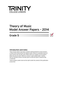 Trinity College London: Theory Model Answers 2014 - Grade 5 Books | All Instruments