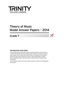 Trinity College London: Theory Model Answers 2014 - Grade 7 Books | All Instruments
