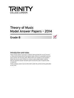 Trinity College London: Theory Model Answers 2014 - Grade 8 Books | All Instruments