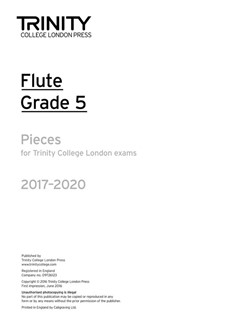 Trinity College London: Flute Exam 2017-2020 - Grade 5 (Part Only) Books | Flute