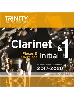 Trinity College London: Clarinet Exam Pieces - Initial & Grade 1 (2017–2020) (CD) CDs | Clarinet