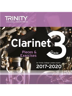 Trinity College London: Clarinet Exam Pieces - Grade 3 (2017-2020) (CD) CDs | Clarinet