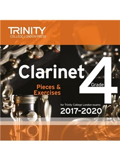 Trinity College London: Clarinet Exam Pieces - Grade 4 (2017-2020) (CD) CDs | Clarinet