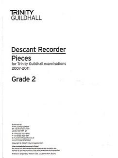 Trinity Guildhall: Descant Recorder 2007-2011 Grade 2 (Recorder Part) Books | Descant Recorder