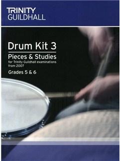 Trinity College London: Drum Kit 3 - Pieces And Studies 2007 (Grades 5 & 6) Books | Drums