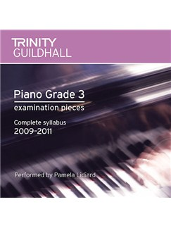 Trinity Guildhall: Piano Grade Three - Pieces 2009-2011 (CD) CDs | Piano