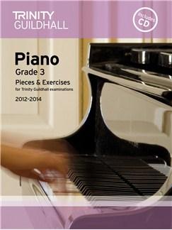 Trinity Guildhall: Piano Grade 3 - Pieces And Exercises 2012-2014 (Book/CD) CD y Libro | Piano