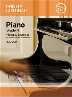 Trinity Guildhall: Piano Grade 4 - Pieces And Exercises 2012-2014 (Book/CD) Books and CDs | Piano