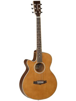Tanglewood: Rosewood Grand Reserve TGRSFCE Left Handed (Mahogany/Natural Gloss) Instruments | Electro-Acoustic Guitar