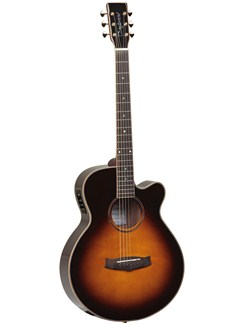 Tanglewood: TGRSF-CE-VS Rosewood Grand Reserve (Mahogany/Vintage Sunburst Gloss) Instruments | Electro-Acoustic Guitar