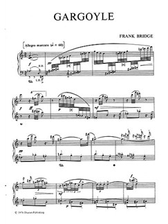 Frank Bridge: Gargoyle Books | Piano