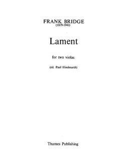 Bridge: Lament (2 Vla) Libro | Viola(Dueto)