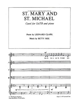 Betty Roe: St. Mary And St. Michael Books | SATB, Piano Accompaniment