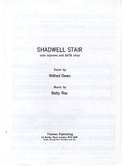 Betty Roe: Shadwell Stair Books | Soprano, SATB
