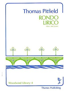 Thomas Pitfield: Rondo Lirico Books | Oboe, Piano Accompaniment