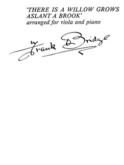 Frank Bridge: There Is A Willow Grows Aslant A Brook Books | Viola, Piano Accompaniment