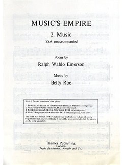 Betty Roe: Music No.2 (Music's Empire) SSA Books | SSA