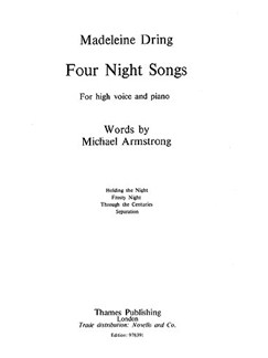 Dring: 4 Night Songs (High Voice, Piano) Books | High Voice, Piano