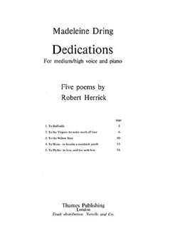 Dring: Dedications (Medium/High) Libro | Voz, Piano