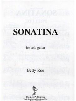 Betty Roe: Sonatina For Solo Guitar Books | Guitar
