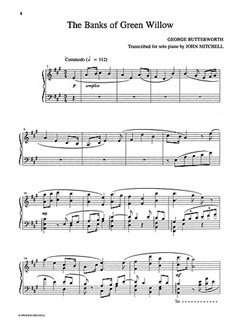Butterworth: Banks Of Green Willow (Piano) Libro | Piano