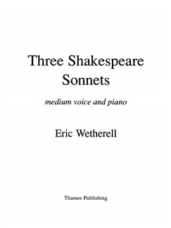 Eric Wetherell: 3 Shakespeare Sonnets - Medium Voice Books | Medium Voice