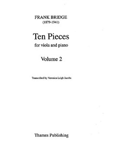 Frank Bridge: Ten Pieces For Viola And Piano - Volume 2 (Nos. 6-10) Books | Viola, Piano Accompaniment
