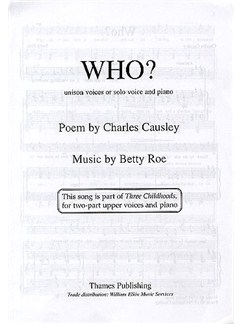 Betty Roe: Who? Books | Unison Voice, Piano Accompaniment