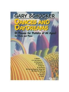 Gary Schocker: Dances And Daydreams Books | Flute, Piano Accompaniment