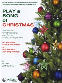 Play A Song Of Christmas - Variable Mixed Ensemble Or Solo With Accompaniment (Cello/String Bassoon/Trombone/Tuba/B.C. Euphonium) Books | Cello, Trombone, Tuba, Euphonium