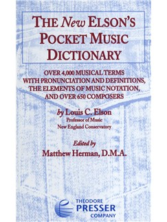 Louis C. Elson: The New Elson's Pocket Music Dictionary Books |