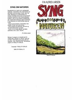 Fin Alfred Larsen: Syng Om Naturen (Songbook) Libro | Línea de Melodía, Texto y Acordes