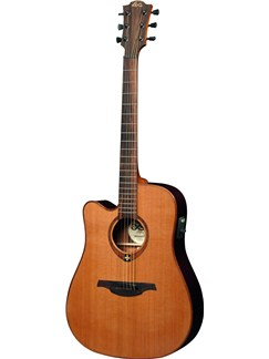 LAG: Tramontane TL100DCE - Left Handed Dreadnought Cutaway Electro-Acoustic Guitar Instruments | Electro-Acoustic Guitar, Left-Handed Guitar
