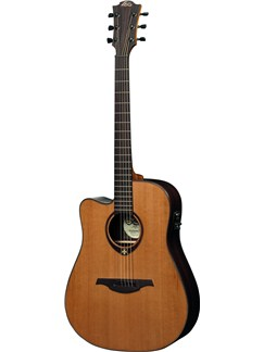 LAG: Tramontane TL300DCE - Left Handed Dreadnought Cutaway Electro Acoustic Guitar Instruments | Electro-Acoustic Guitar, Left-Handed Guitar