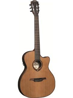 LAG: Tramontane TN300A14SCE - Slim-line Auditorium Cutaway Nylon String Electro Acoustic Guitar Instruments | Electro-Classical Guitar