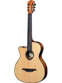 LAG: Tramontane TNL66ACE - Left-Handed Auditorium Cutaway Nylon String Electro Acoustic Guitar Instruments | Left-Handed Guitar, Electro-Classical Guitar