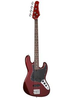 Overwater: Classic J Series Bass Guitar (Candy Apple Red Gloss) Instruments | Bass Guitar