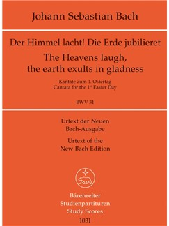 J.S. Bach: Cantata BWV 31 Der Himmel Lacht! Die Erde Jubilieret (Study Score) Books | Orchestra, SATB
