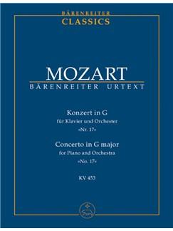 W.A. Mozart: Piano Concerto No.17 In G K.453 (Study Score) Books | Orchestra, Piano