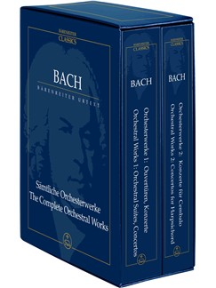 J.S. Bach: The Complete Orchestral Works in Two Volumes (Study Score Box Set) Books | Orchestra