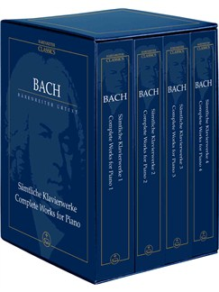 J.S. Bach: The Complete Piano Works in Four Volumes (Study Score Box Set) Books | Piano