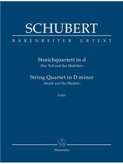 F. Schubert: String Quartet In D Minor D810 - Death And The Maiden (Study Score) Books | String Quartet