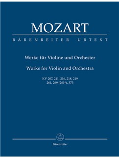 W. A. Mozart: Works For Violin And Orchestra (K.207, 211, 216, 218, 219; K.261, 269, 373) Study Score Books | Orchestra, Violin