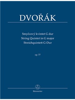 Antonin Dvorak: String Quintet In G, Op.77 - Study Score Books | Chamber Group, String Ensemble