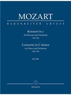 W.A. Mozart: Piano Concerto In C Minor K.491 (Study Score) Books | Orchestra, Piano