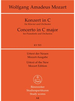 W.A. Mozart: Piano Concerto No.25 In C K.503 (Study Score) Books | Orchestra, Piano